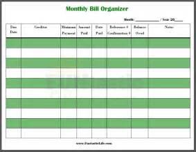 printable organizer templates monthly bill organizer template best template idea