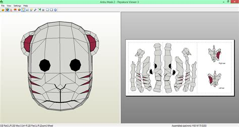 Anbu Mask Papercraft - anbu mask 2 papercraft by sibor270898 on