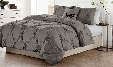 comforters deals victoria classics pintucked comforter set 4 piece groupon