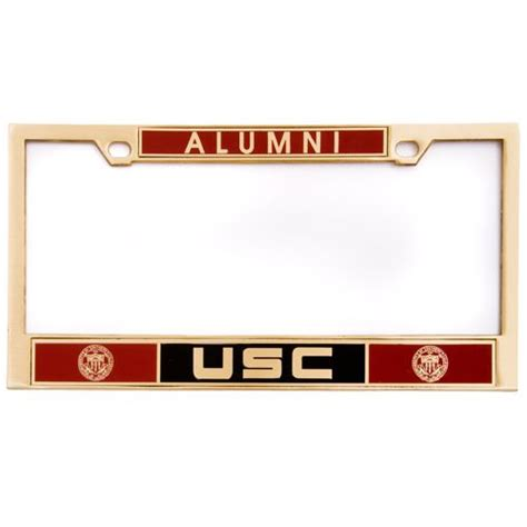 gestell mit teller usc alumni license plate frame usc bookstores products