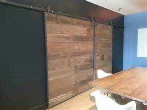 Sliding Barn Door Frame Barn Wood Sliding Doors In Steel Frame Contemporary Interior Doors Grand Rapids By Re Dwell