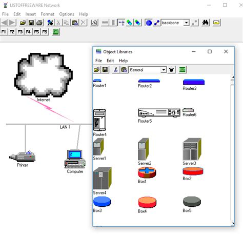 network layout freeware 7 best free network diagram software for windows