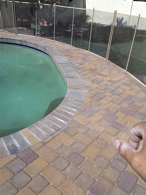 remodel your pool deck using thin overlay pavers thin overlay pavers awesome overlay pavers sipu design