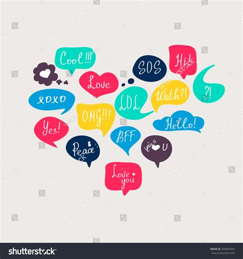 html design questions colorful questions speech bubbles set flat stock vector