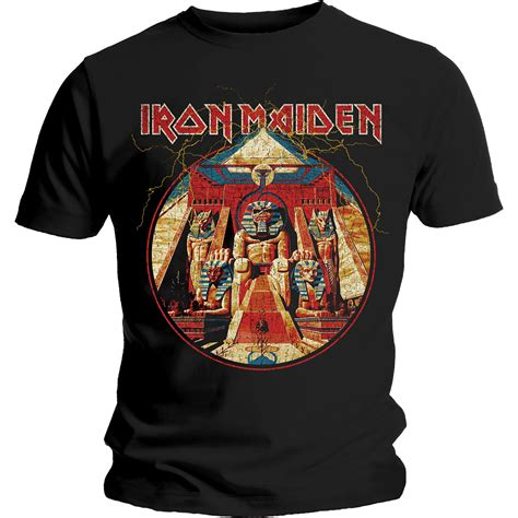 Kaos Iron Maide Tshirt Gildan Softstyle 4 iron maiden powerslave lightning circle shirt size s