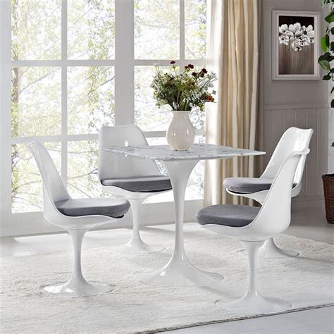 Square Marble Dining Table Odyssey 28 Quot Square Marble Modern Dining Table Eurway