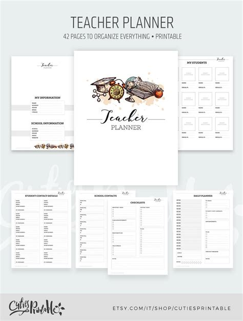 printable teacher planner uk teacher planner printable school homeschool lesson planner