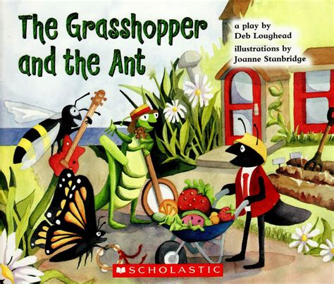 the ant and the grasshopper picture book joanne stanbridge