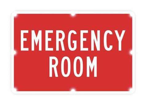 tapco led sign emergency room white 2180 c00074 zoro