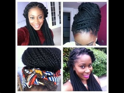 how to style my braided hair blocks how i style my long box braids youtube