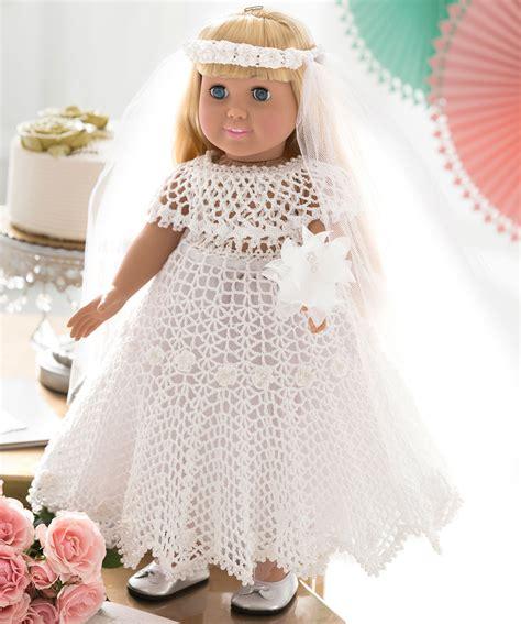 pattern dress doll wedding dress for doll red heart