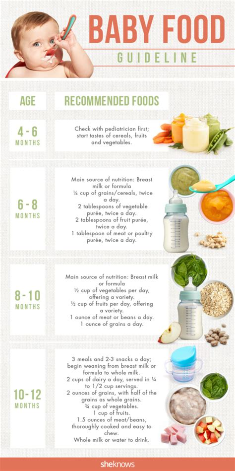 5 Dishes To Start The Week With by Starting Baby On Solids Chart Solid Food Chart By Types