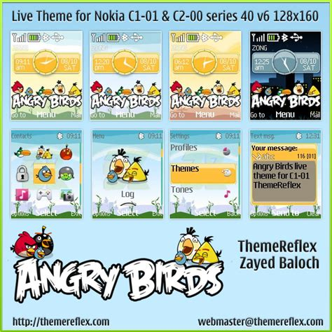 themes download c1 angry birds live theme for nokia c1 01 c2 00 themereflex