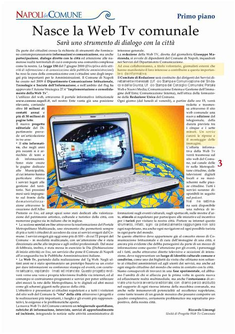 ufficio sta napoli web tv comune di napoli allineati e coperti
