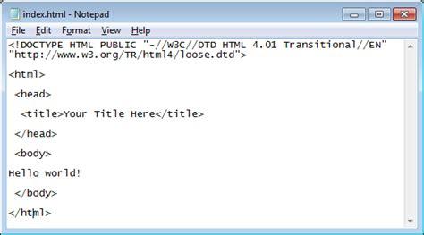 Starting A Html Document html2 a freezenet ca