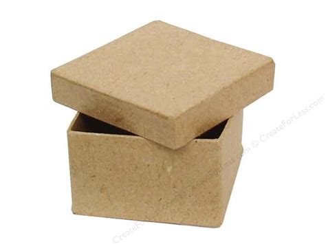 Craft Paper Boxes - paper mache mini square box by craft pedlars 36 pieces