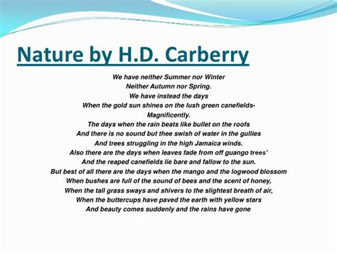 themes of nature by hd carberry nature