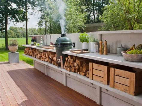 Backyard Kitchen Ideas Outdoor Extraordinary Rustic Outdoor Kitchen Designs