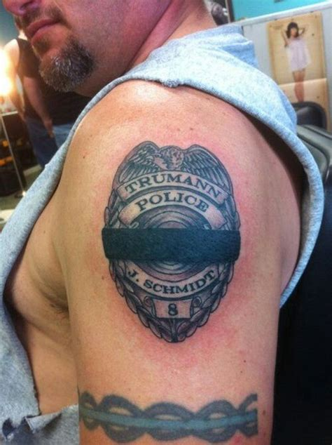 police officer tattoos memorial badge tattoos badges and