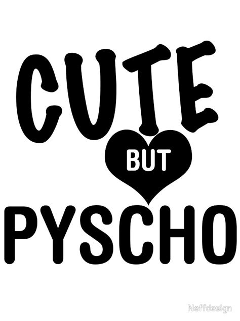 Anime Wall Stickers quot cute but psycho quot stickers by neffdesign redbubble