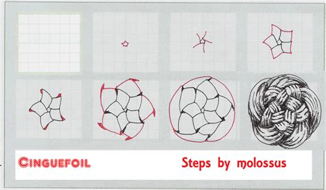 zentangle pattern ideas step by step cinquefoil view one tangle pattern sorry for the repost