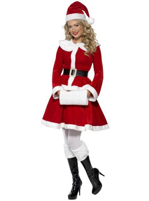hot miss santa on pinterest miss santa deluxe costume buy at funidelia