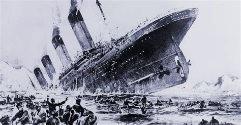 pictures of the titanic sinking did an untamed coal sink the titanic