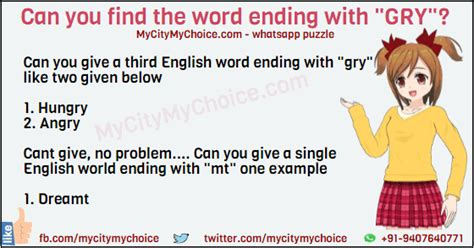 Can You Search By City Can You Find The Word Ending With Quot Gry Quot Puzzle Answer