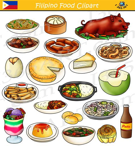clipart food food clipart bundle food from the philippines