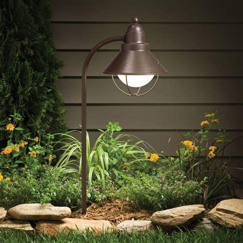 Outdoor Garden Light Kichler Landscape Lighting To The Garden Design Ward Log Homes