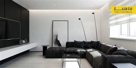 red house design studio jingdezhen طراحی داخلی آپارتمان با رنگ های سیاه و سفید بخش 1 خط
