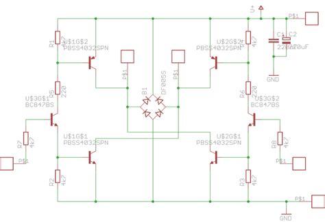 bipolar transistor h bridge h bridge bjt problem