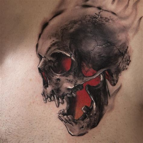 red skull tattoo niki norberg artist the vandallist