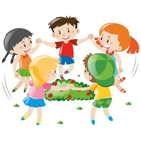 imagenes de niños jugando en un parque dise 241 o de ni 241 os jugando descargar vectores gratis