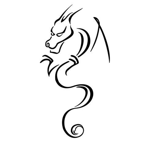 tattoo simple stencils simple dragon tattoos