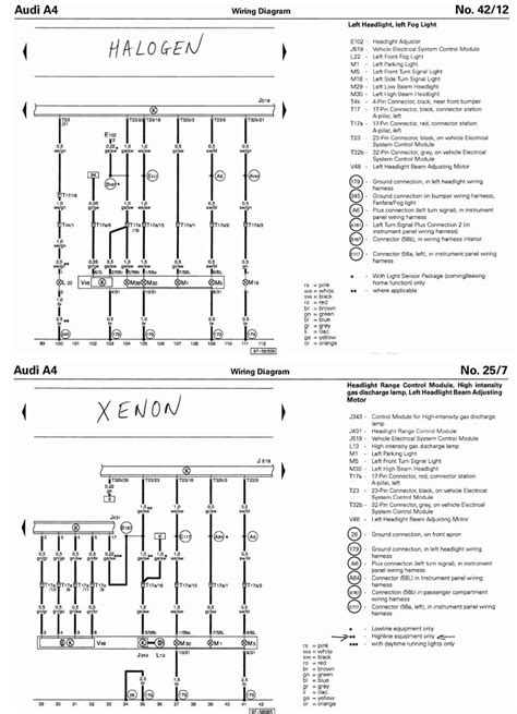 b6 a4 halogen headlight wiring diagrams repair wiring scheme