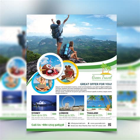 flyer design for travel agency travel agency flyer by aam360 graphicriver