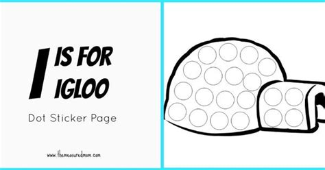 printable dot stickers letter i printable quot i quot is for igloo dots and stickers