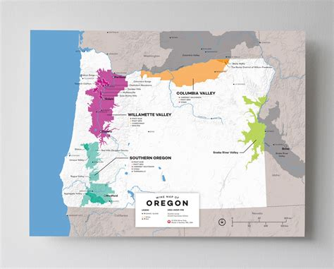 oregon on a map of usa updated wine maps of the world wine folly