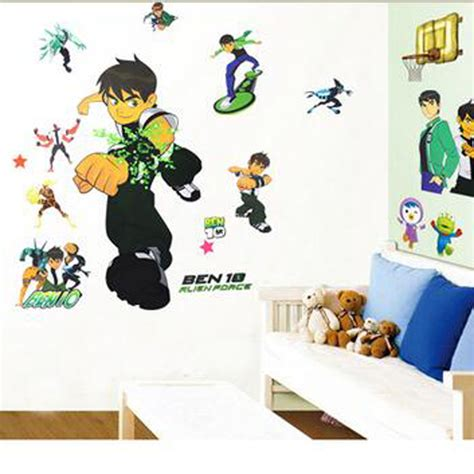 ben 10 wall stickers free shipping ben 10 removable wall stickers nursery baby