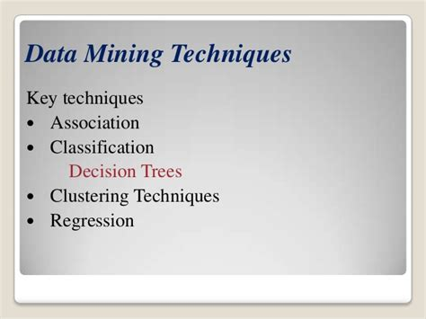 pattern classification techniques in data mining data mining technique decision tree