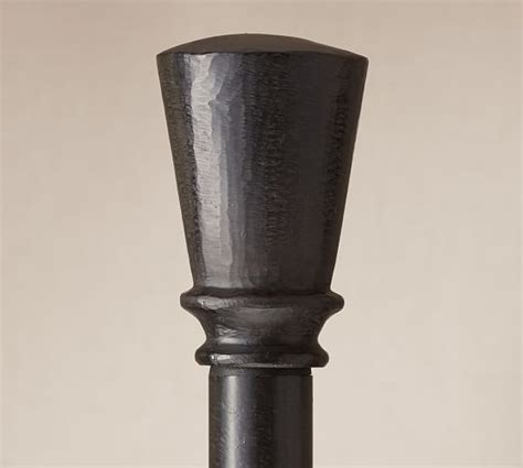 cast iron drape rod cast iron tapered finial drape rod pottery barn