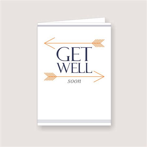 make your own get well soon card printable arrow design get well soon card pdf