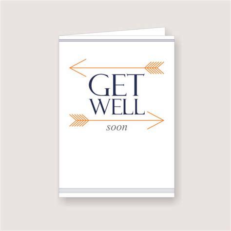 printable card get well soon printable arrow design get well soon card pdf