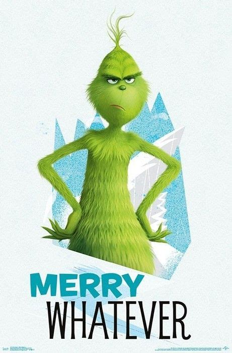 grinch poster merry   large wall print  grinch christmas  grinch