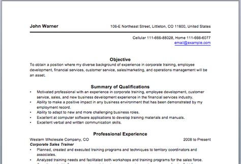 corporate trainer resume sle electrical trainer resume sales trainer lewesmr