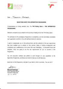 appointment letter format for apprentice apprenticeship appointment letter