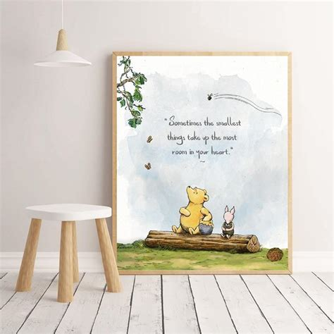 winnie  pooh quotes gallery wall art prints