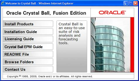 tutorial oracle crystal ball installing oracle crystal ball