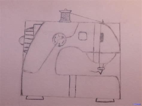 doodle drawings how to how to draw a sewing machine step by step stuff pop